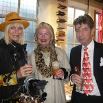 Awesome people hanging out together at the Advanced Style London book launch