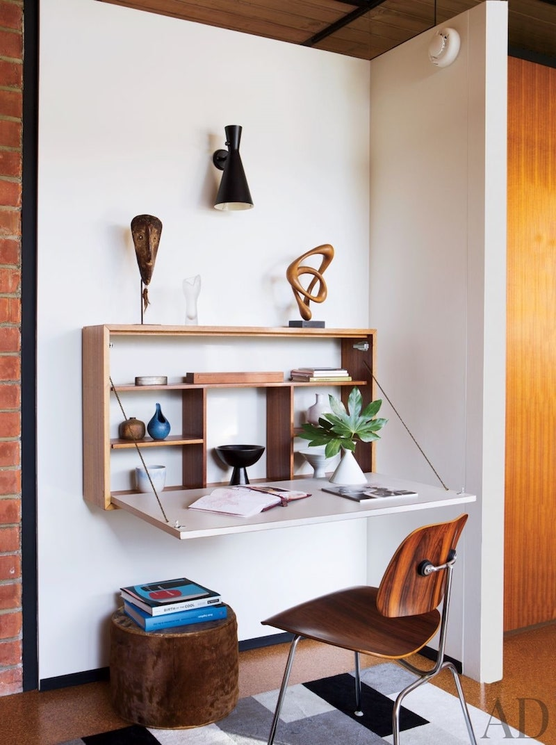 Architectural Digest - wall mounted desk
