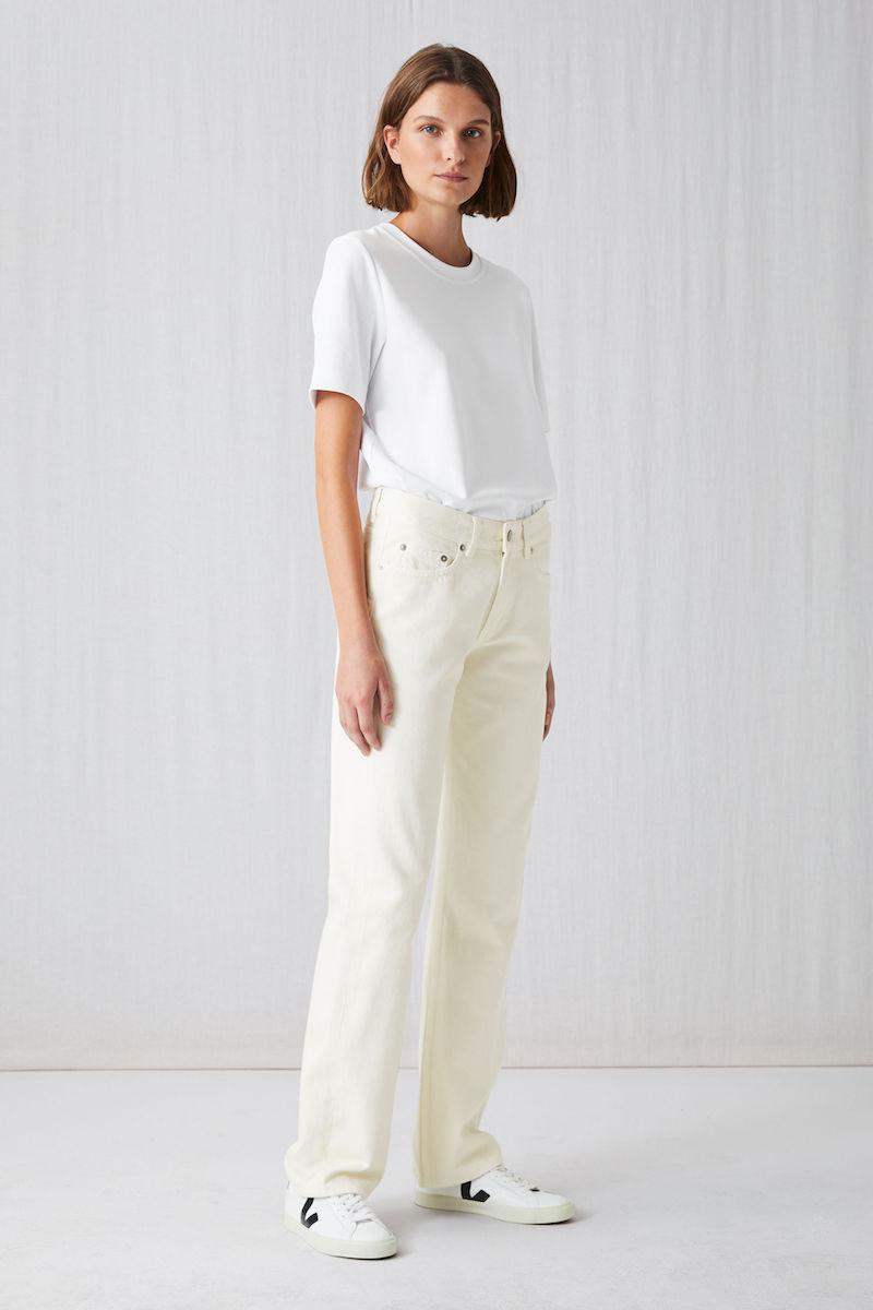 Arket straight rinsed ecru jeans