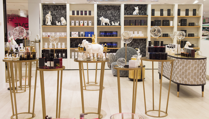 Avery Perfume Gallery at Selfridges featuring scented ceramic object in the shape of animals and birds