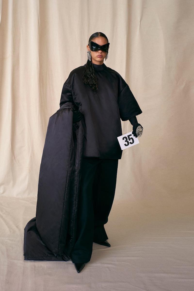 Balenciaga Couture AW21 satin tee