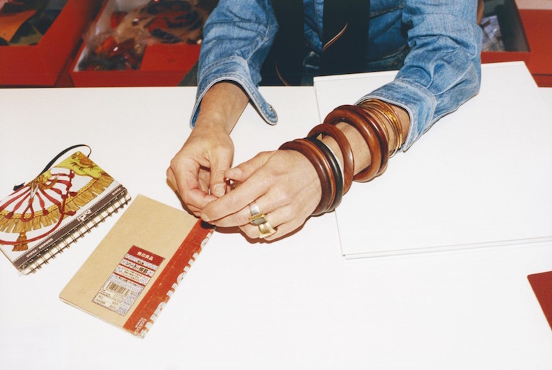 Hermes Wooden bangles worn by Bali Barret. Photo by Tung walsh for Self Service