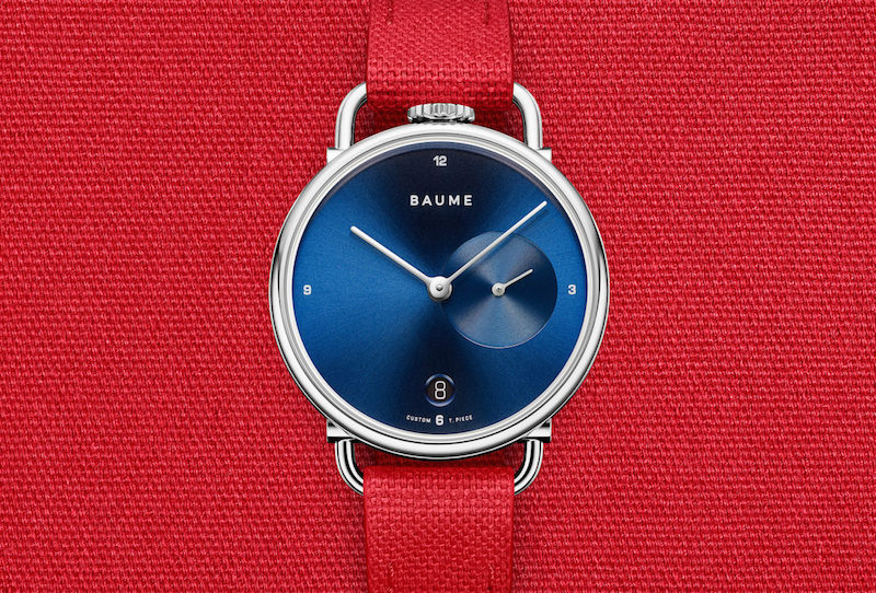 Baume watches with customisable straps