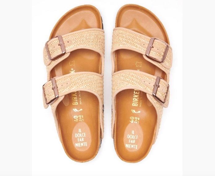 Birkenstock Il Pellicano raffia sandal
