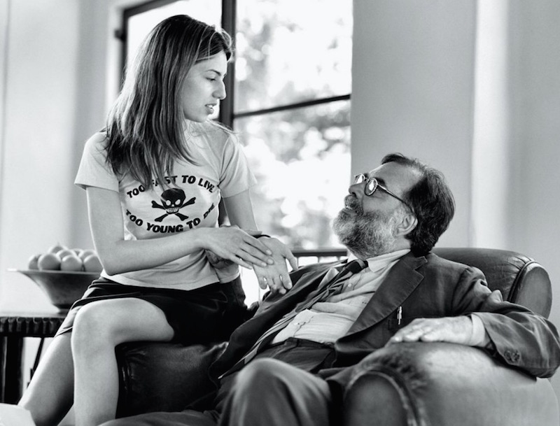 Sofia and francis Ford Coppola by Bruce Weber for Vanity Fair