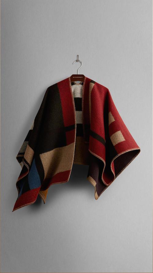 Burberry Prorsum AW14 blanket poncho