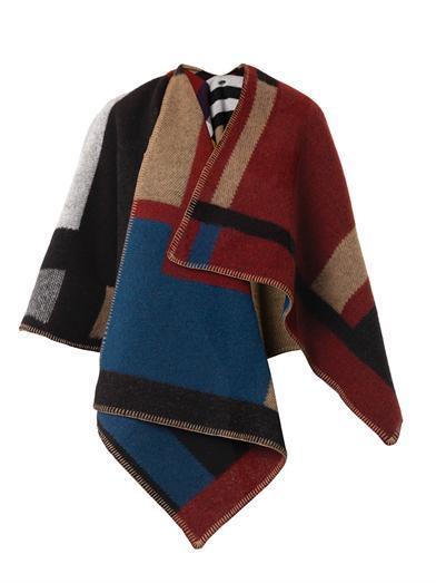 Burberry-aw14-blanket-poncho-cape 5