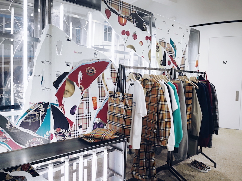 Burberry reissued archive collection Dover Street Market
