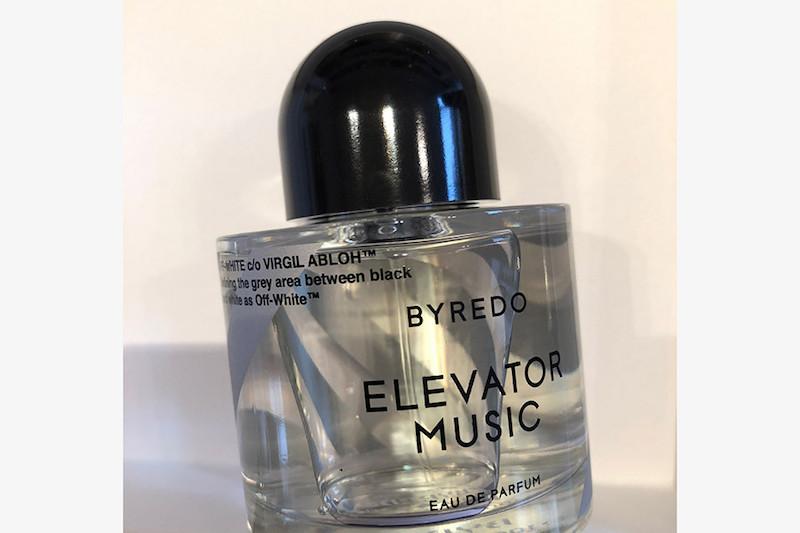 Byredo X Off-White fragrance Elevator Music