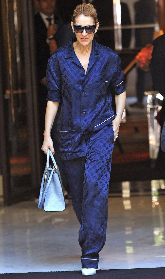 Celine Dion in Supreme X Louis Vuitton