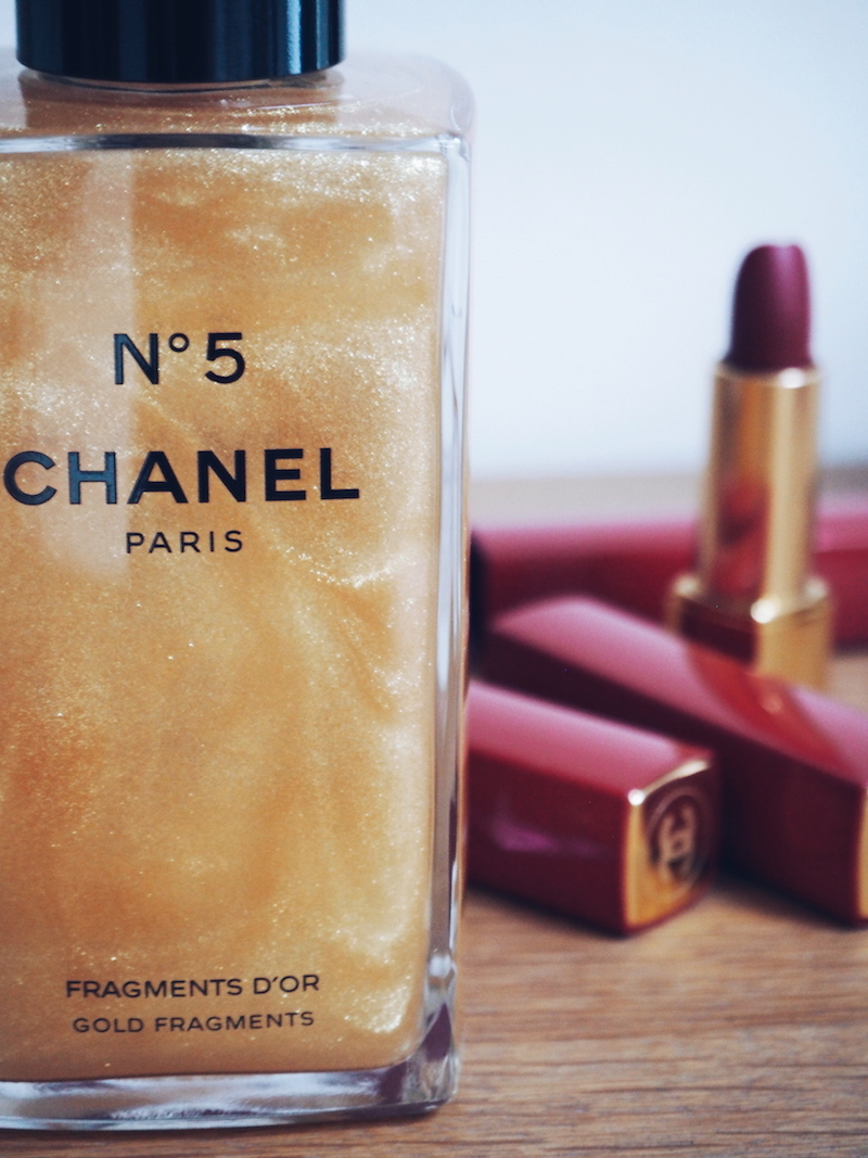 Chanel no 5 Fragments D'Or scented body gel with gold flecks