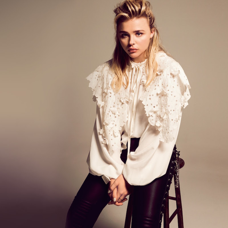 Chloe Moretz modelling new season trends in Porter magazine