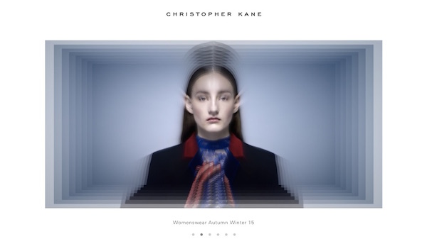 Christopher Kane launches website