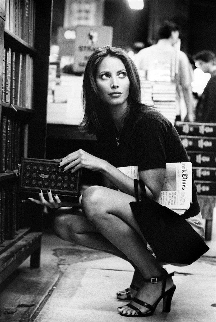 Christy Turlington with New York Times by Pamela Hanson