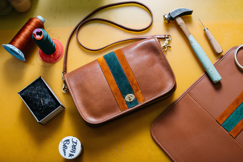 Coach Vintage at Barneys. Vintage Coach bags sourced by Coach, repurposed and sold in a collaboration with Barneys