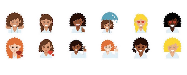 DOVE curly hair emojis