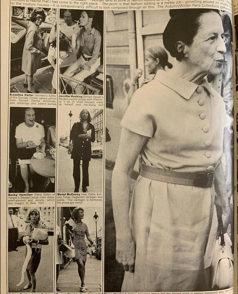 Diana Vreeland featured in Nova 1969 photographed by Steve Hiett via Magazine Fan