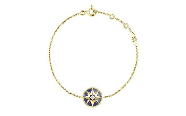 Dior ROSE-DES-VENTS BRACELET yellow gold with diamonds and lapis lazuli. £1,350 jpg