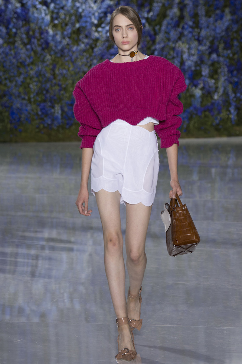 Dior ss16 cropped sweater