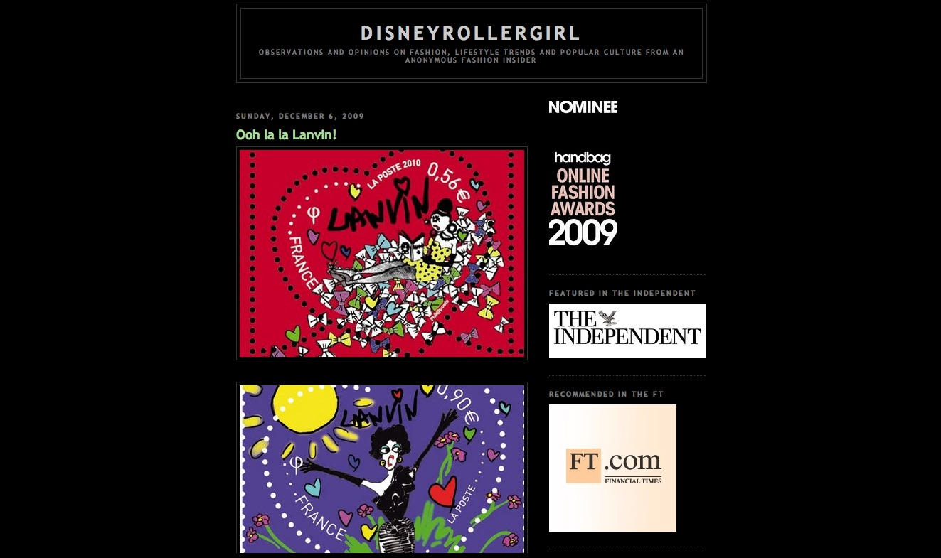 Disneyrollergirl old design on blogspot