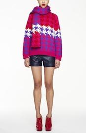Ebay-pop-up-LFW-House-of-Holland-Houndstooth-pink jumper £350, scarf-£265