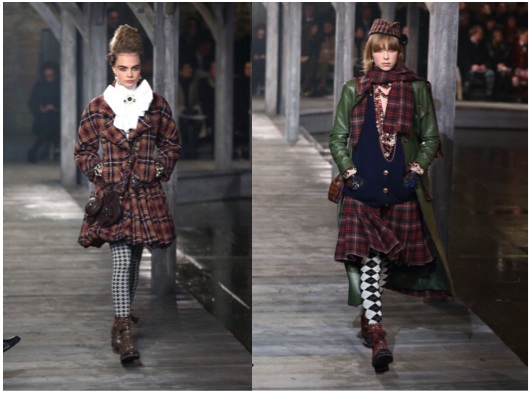 Edie-Campbell-Cara-Delevigne-Chanel-Métiers-d'Art-Linlithgow-Palace