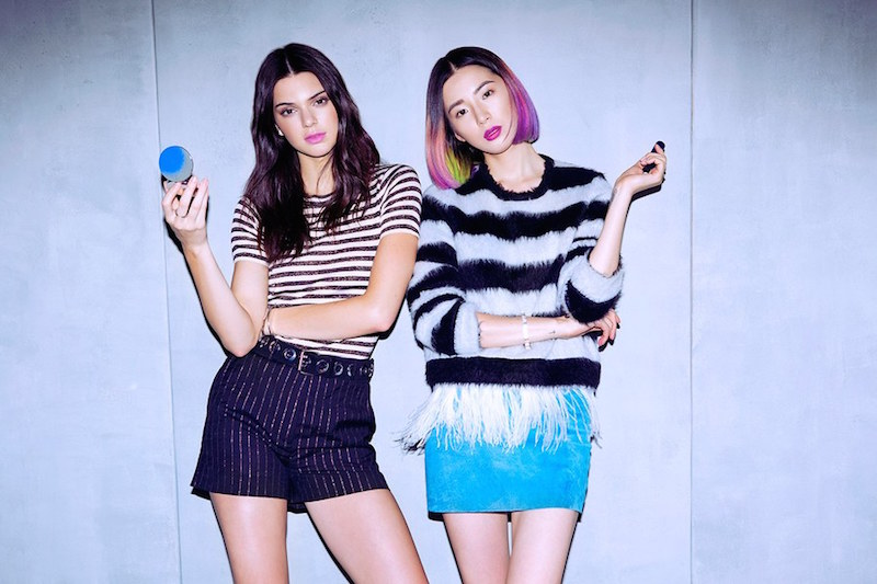 Estee Edit make-up ranfe featuring Irene Kim and Kendall Jenner as guest editors