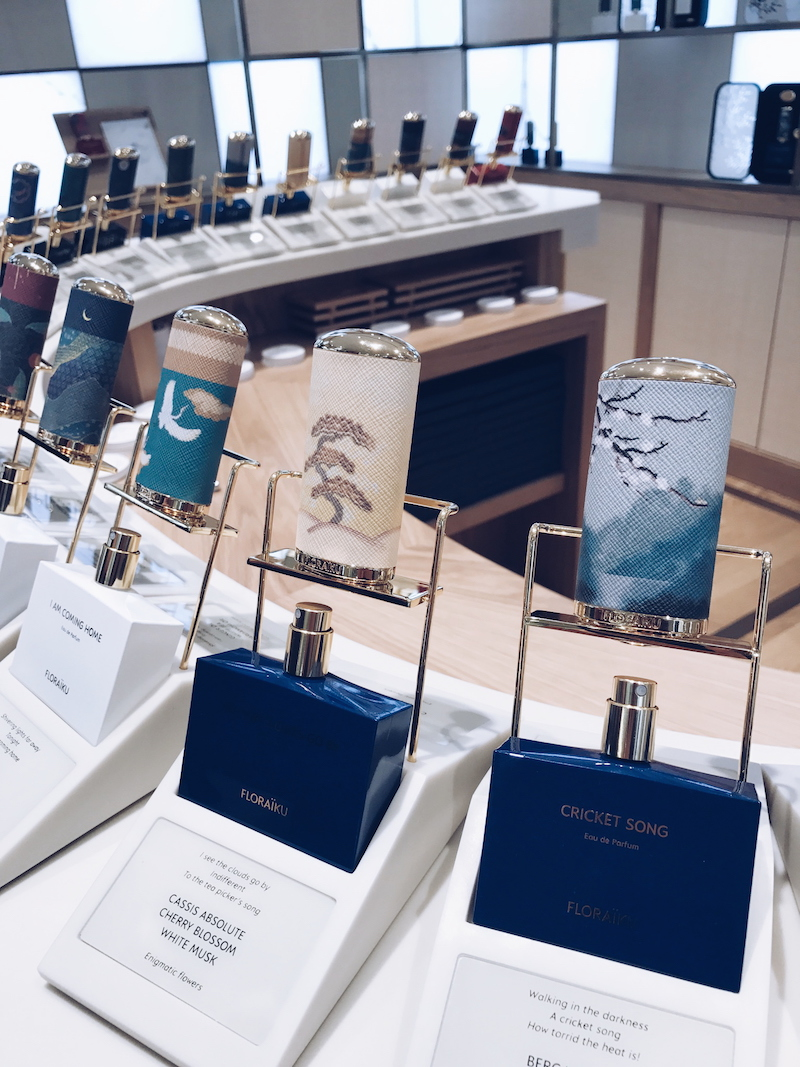 Floraiku fragrance at Harrods Salon de Parfums 6th floor