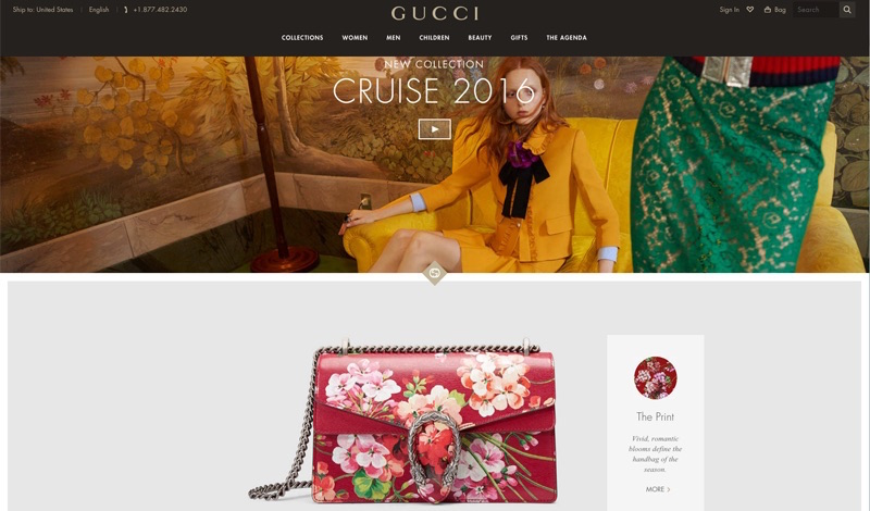 Gucci.com relaunches