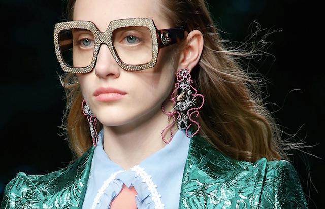 Gucci jumbo earrings and glasses