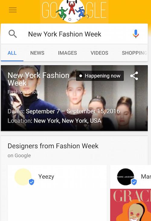 Google New York Fashion Week Yeezy
