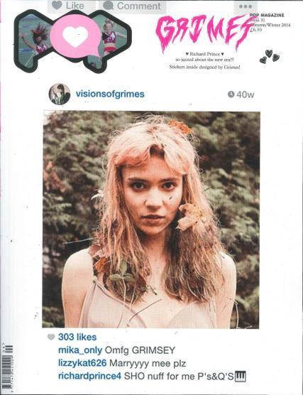 Grimes-Pop-Magazine-Richard-Prince-Instagram