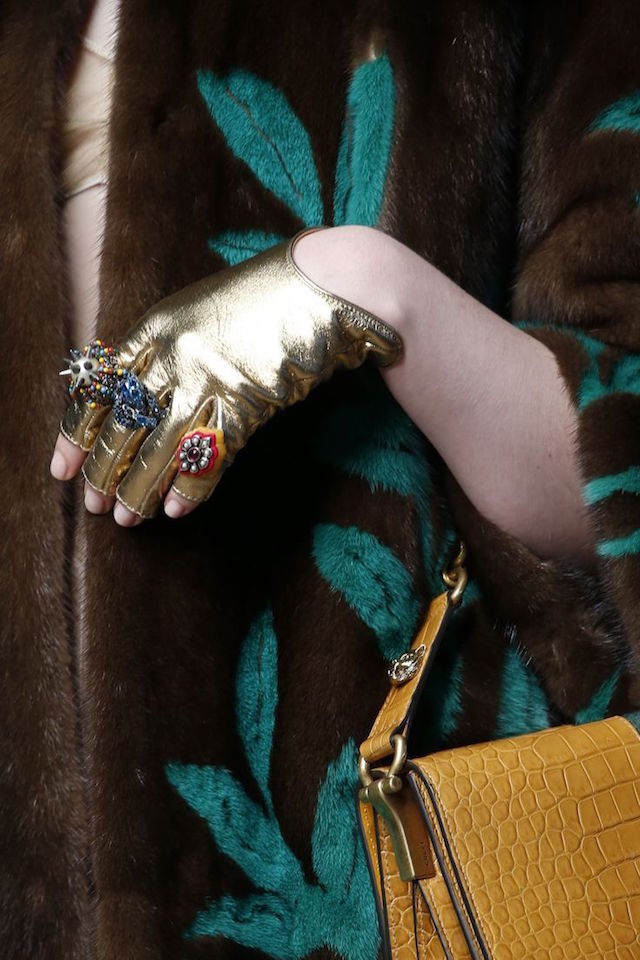 Gucci ss16 rings and gloves