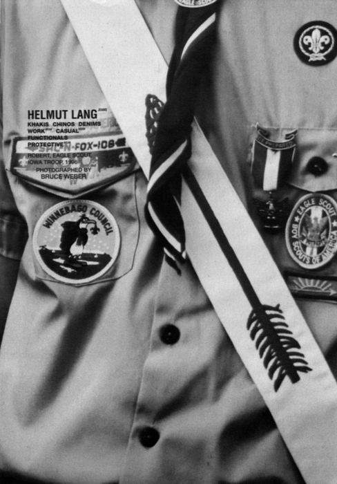 Helmut Lang by Bruce Weber