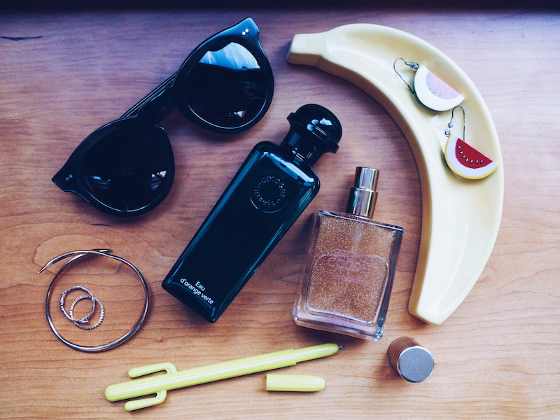 How to build a fragrance wardrobe. For holidays and travel, include Hermes D'orange Vert and Estee Lauder Bronze Goddess Shimmering Body Oil Spray