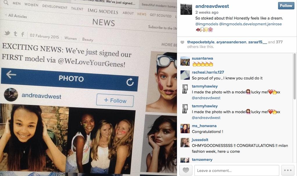 IMG we love your genes instagram andrea van der westhuizen