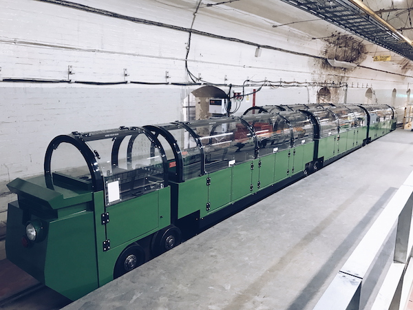 Inside The Mail Rail Train at The Postal Museum London 2017