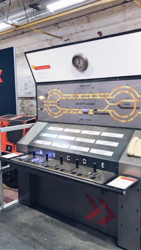 Inside the Mail rail exhibition at The Postal Museum London 2017