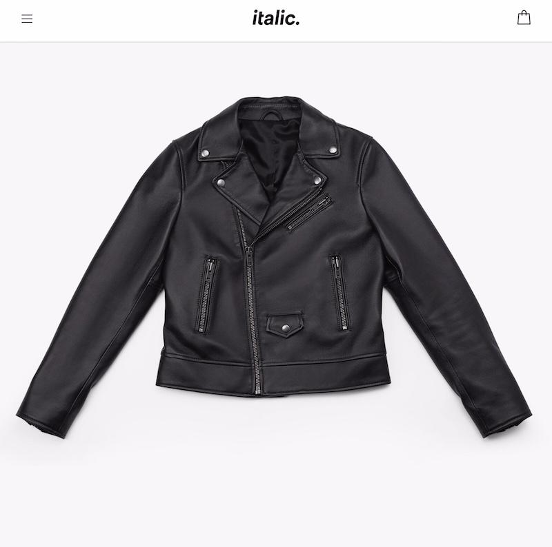 Italic lambskin biker jacket