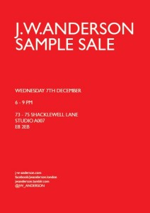 J W Anderson sample sale