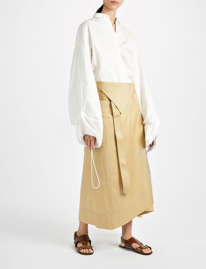 JOSEPH Sateen Shirting Sini Blouse White
