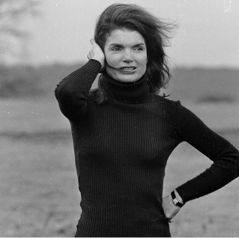 Jacqueline Kennedy Onassis sporting her Cartier Tank