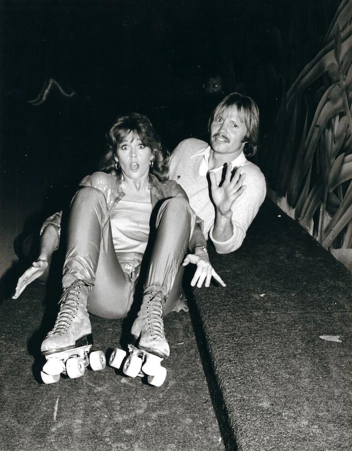 Jane Fonda roller skating at Flipper's