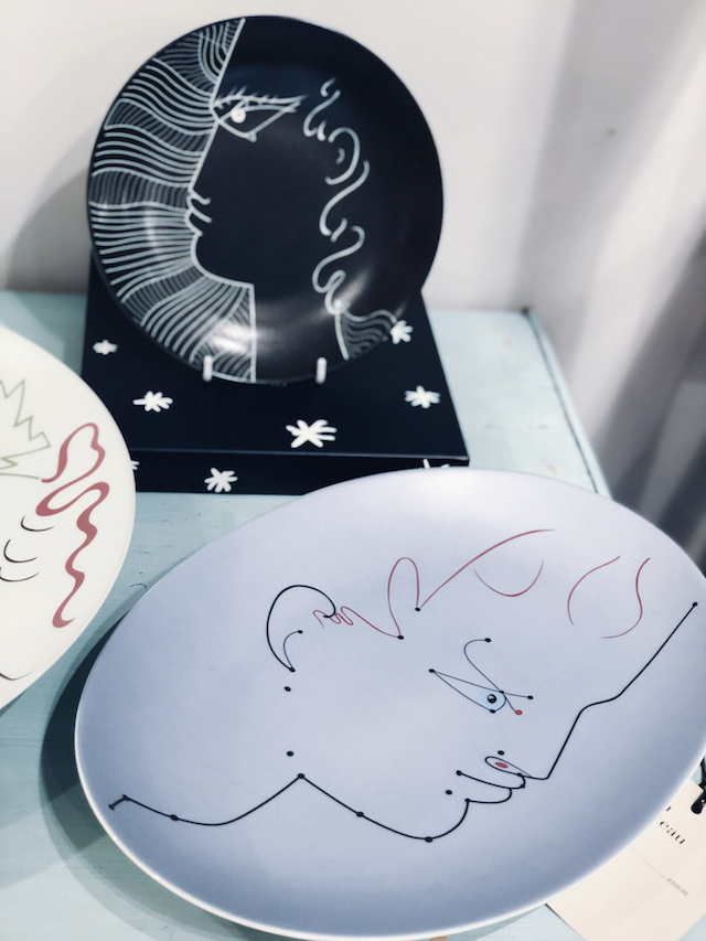 Jean Cocteau plates by Raynaud Limoges