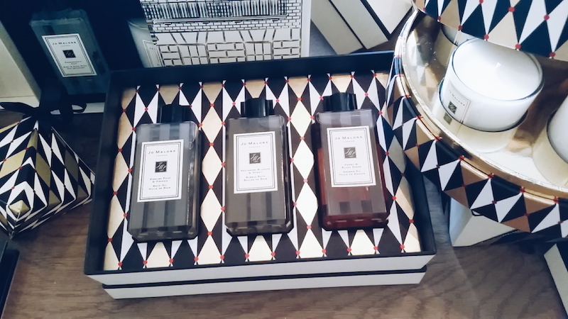 Jo Malone Christmas 2016 collection gift set of shower oil, bubble bath and bath oil