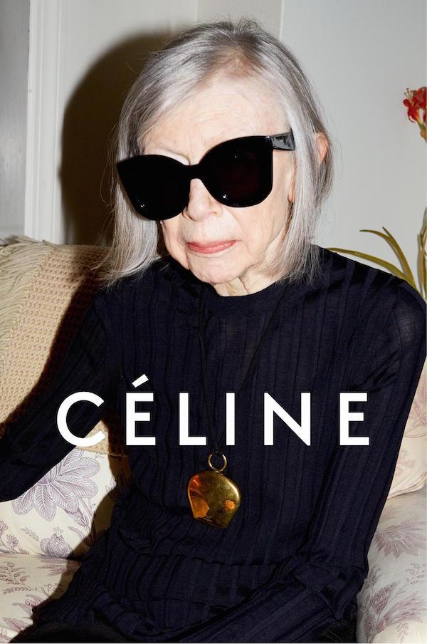 Joan Didion for Celine by Juergen Teller