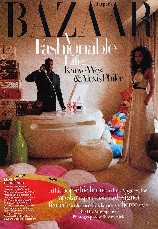 Kanye West Alexis Phifer Harpers Bazaar