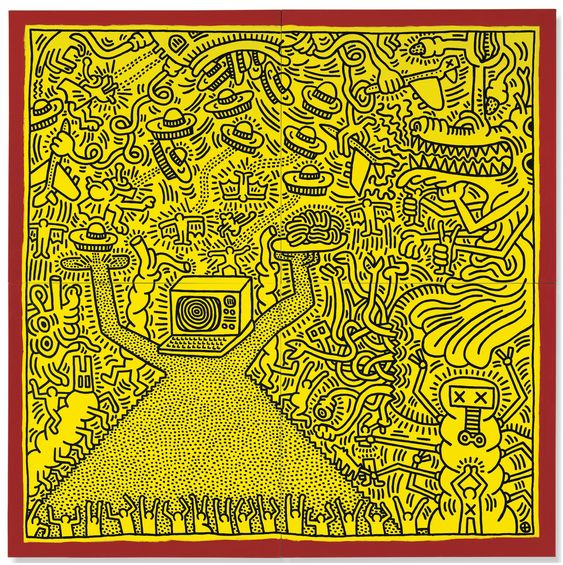 Keith Haring untitled 1984