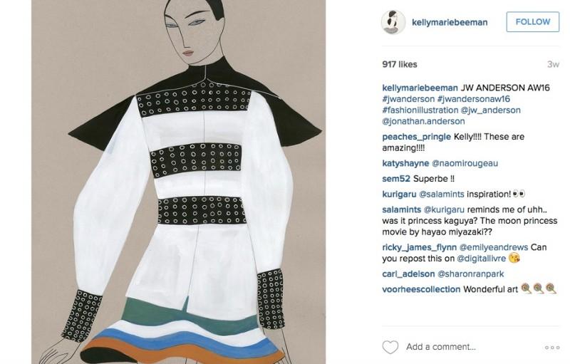 Kelly Beeman fashion illstration