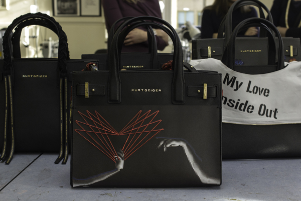 Kurt Geiger and Cordwainers at London College of fashion Saffiano bag design project